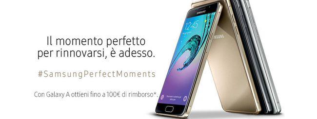 Samsung, sino a 100€ di rimborso per un Galaxy A