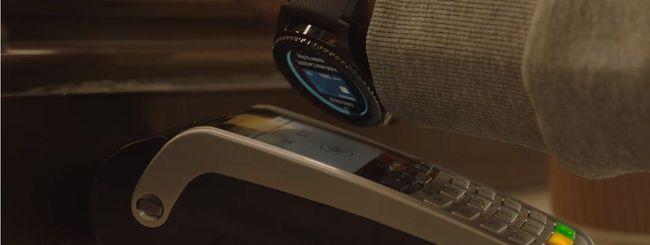 Samsung Pay, come pagare con Gear S3 e Gear Sport