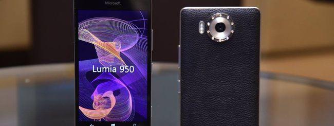 Microsoft Lumia 950 con cover di diamanti