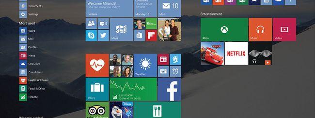 Windows 10, supporto parziale per Surface 2