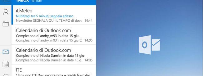 Windows 10: update per Posta e Calendario