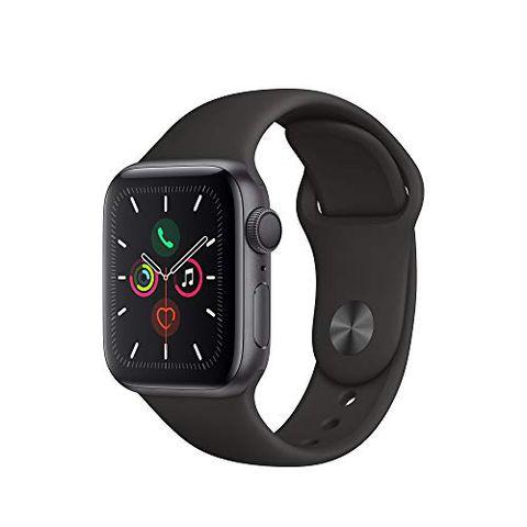 Apple Watch Series 5 (GPS, 40 mm) Cassa in Alluminio, Grigio Siderale e Cinturino Sport - Nero