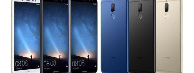 Huawei Mate 10 Lite, display 18:9 e quad camera