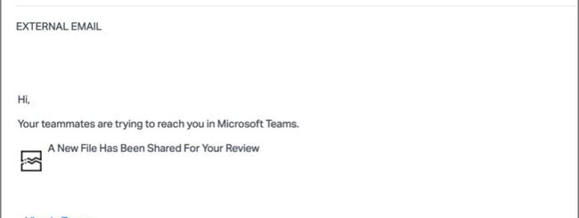 microsoft teams false email phishing