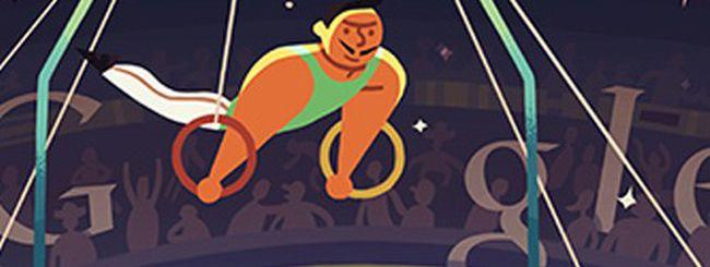 Olimpiadi di Londra 2012: un doodle per gli anelli