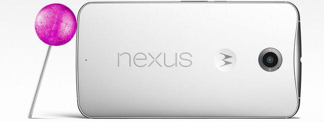 Nexus 6 con Android 5.0 Lollipop