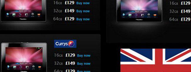 BlackBerry PlayBook, nuovo taglio di prezzo