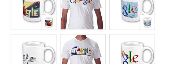 I Doodle di Google su t-shirt, tazze e altri oggetti