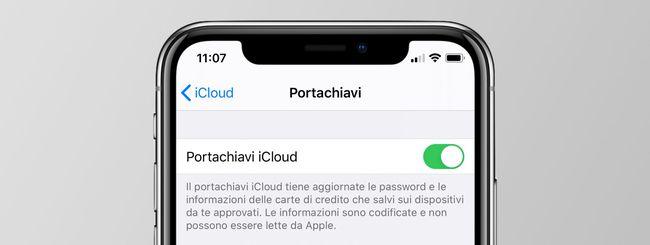 Portachiavi iCloud, recuperare le password salvate su iPhone