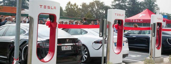 La prima stazione Tesla Supercharger in Italia