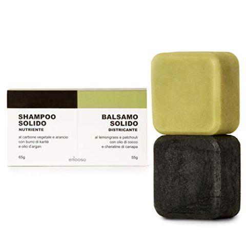 Shampoo Solido Bio e Balsamo 120g - Enooso