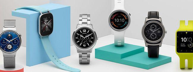 Gli smartwatch aggiornati ad Android Wear 2.0