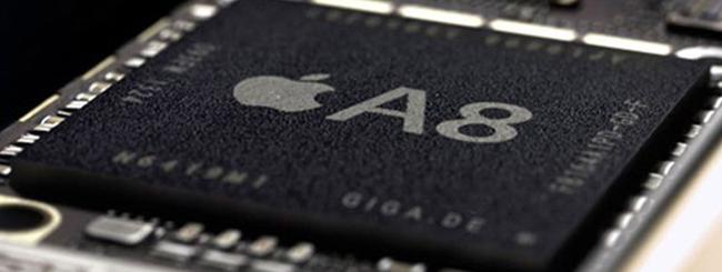 iPhone 6 e iPad Air 2 con processore Apple A8 a 2 GHz