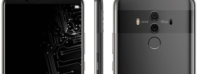 Huawei Mate 10 Pro, immagine del lock screen