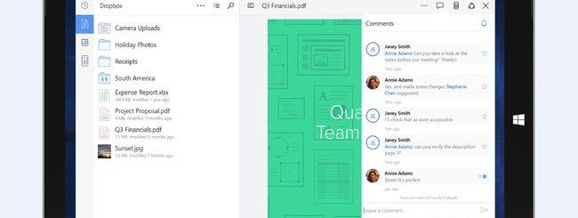 Dropbox rilascia l'app universale per Windows 10