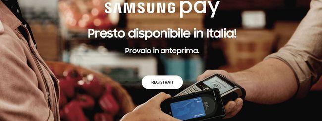 Samsung Pay arriva in Italia, in beta