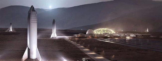 SpaceX, mini BFR per i test di volo su Marte