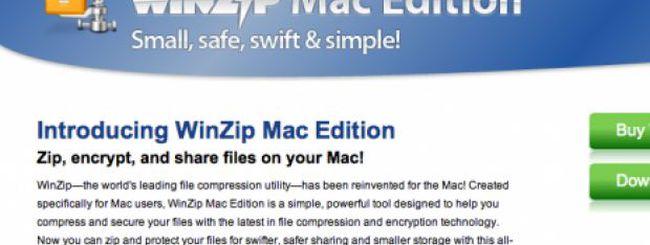 WinZip arriva sulla piattaforma Mac