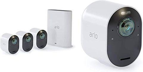 Arlo Ultra VMS5440 Sistema di Videosorveglianza Wi-Fi con 4 Telecamere di Sicurezza 4K