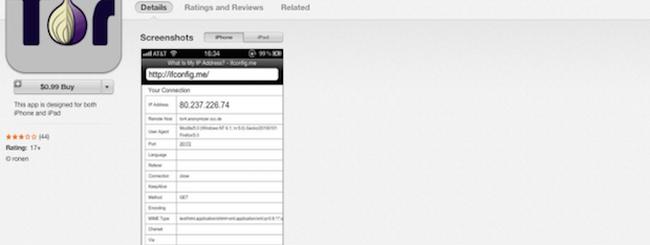 Tor Browser per iOS, la versione su App Store non è ufficiale ed è piena di spyware