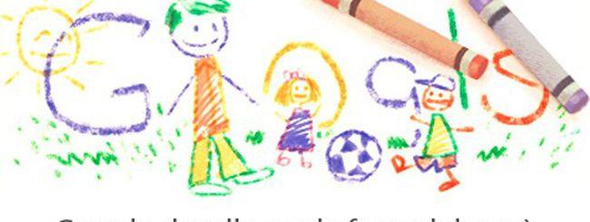 Festa del papà, un Google doodle colorato