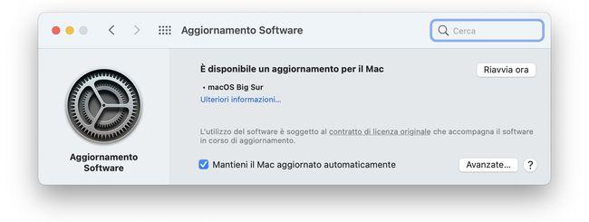macOS 11.2.1: C'è un (altro) bug nell'update