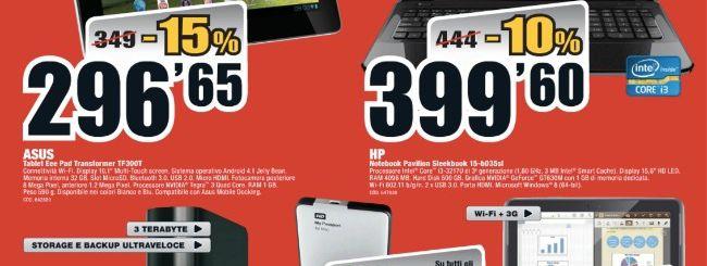 Mediaworld: ASUS Transformer TF300T a 296 euro