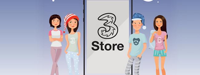 iPhone 6 pigiama party nei negozi Tre