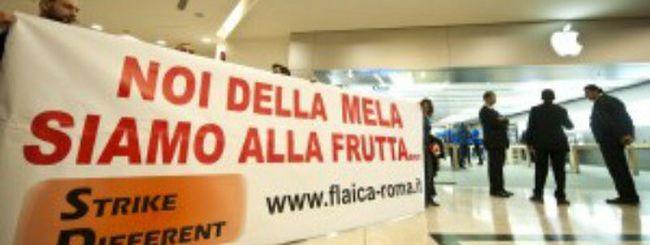 iPhone 4S, debutto con protesta all'Apple Store di Roma