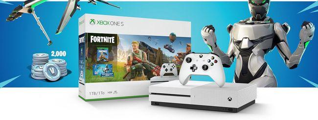 Fortnite, bundle con Xbox One S e crossplay su PS4