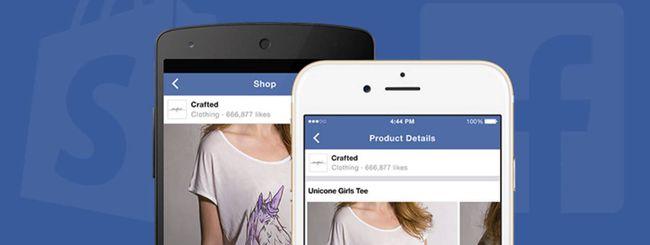 Facebook con Shopify per l'e-commerce