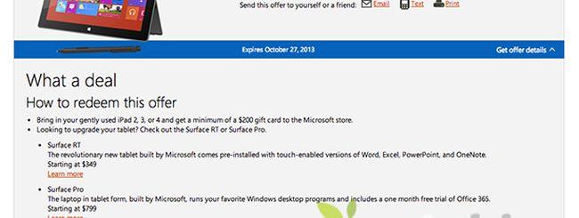 Microsoft estende la sua offerta: adesso 200 dollari a chi permuta un iPhone