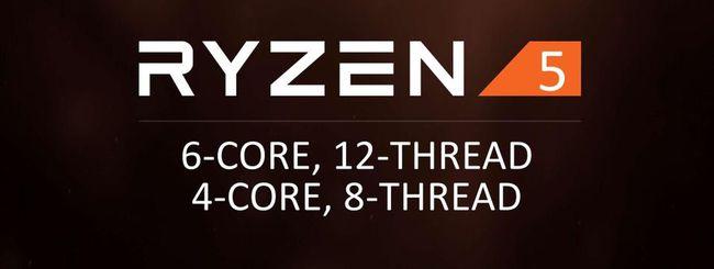AMD annuncia quattro processori Ryzen 5