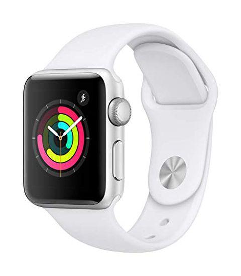 Apple Watch Series 3 (GPS) con cassa 38 mm in alluminio color argento e cinturino Sport bianco