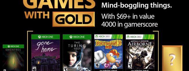 Xbox Live Games With Gold, i giochi di ottobre