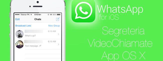 WhatsApp: videochiamate, segreteria e client ufficiale per Mac