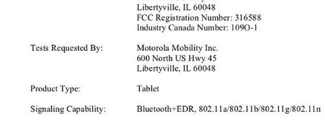 Motorola Xoom 2, ecco le specifiche tecniche