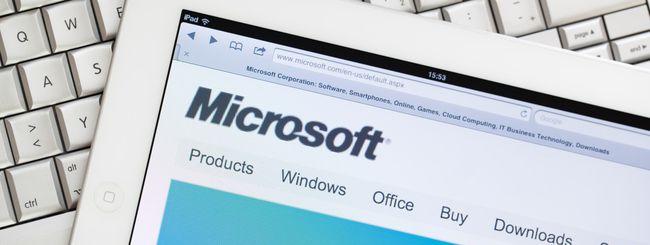 Microsoft, basta password per il login