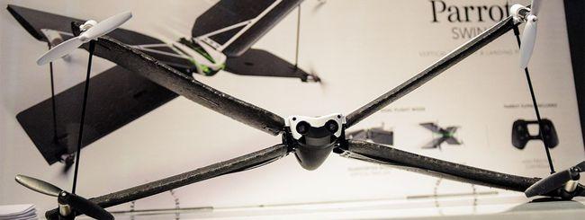 Primo volo con i droni Parrot Swing e Mambo
