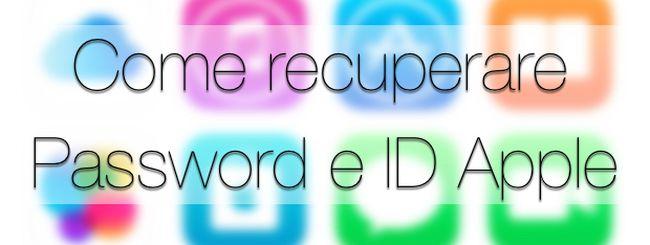 Cosa fare se dimenticate ID Apple o la password dell'account