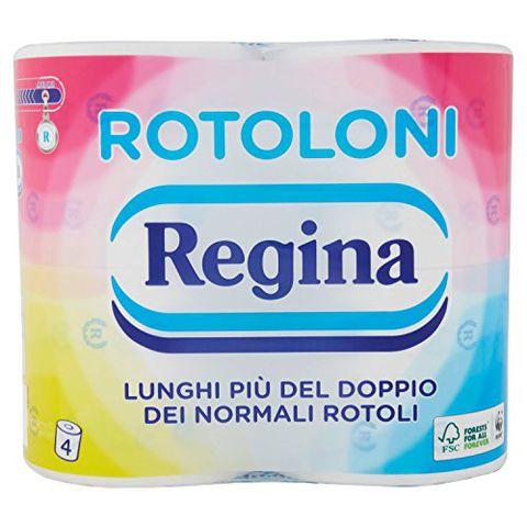 REGINA Rotoloni - confezione da 4 rotoli di carta igienica 2 veli, in pura cellulosa