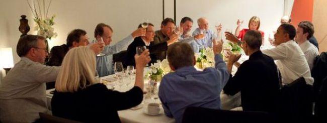 Foto di Steve Jobs alla cena con Barack Obama