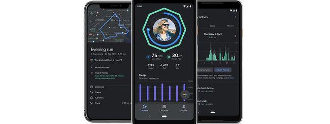 Google Fit, Modalità Scura e grafici per il sonno