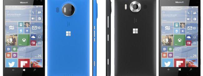 Microsoft svela i nuovi Lumia 950, 950 XL e 550