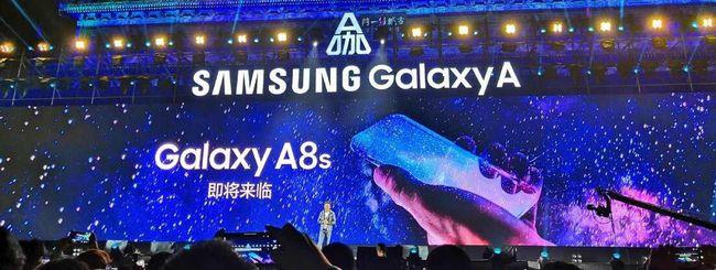 Samsung Galaxy A8s, annuncio il 10 dicembre?
