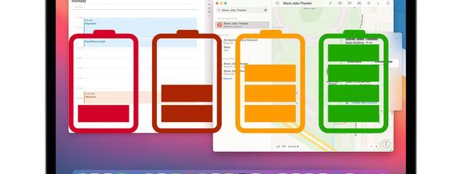 macOS Big Sur 11.3: Batteria carica prima degli appuntamenti in Calendario