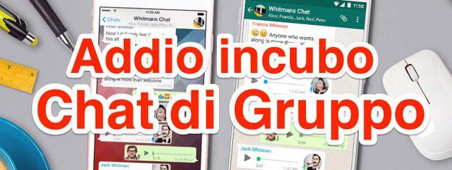 WhatsApp: silenziare tutti (tranne l'Amministratore) nelle chat di gruppo