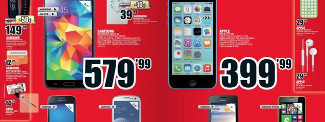 Volantino Mediaworld, Apple iPhone 5C a 399 euro