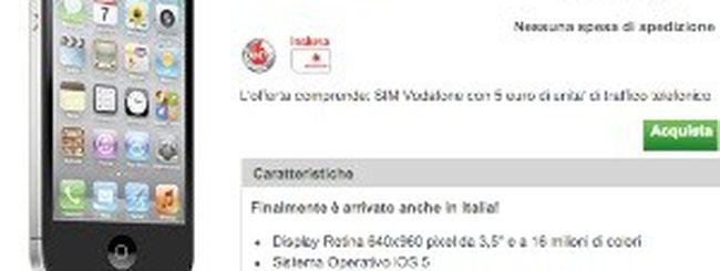 Apple iPhone 4S disponibile sullo store della Vodafone