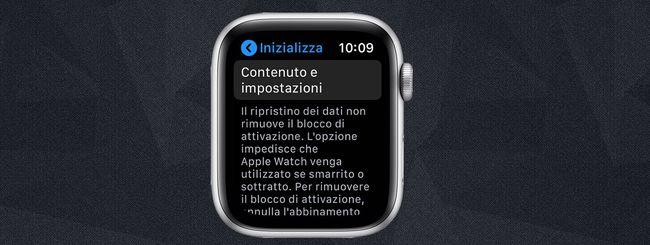 Ripristinare Apple Watch senza iPhone